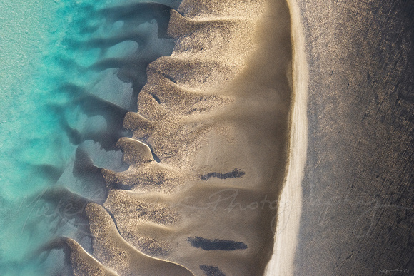 An abstract aerial photo of Broome Western Australia by Mieke Boynton