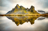 Eystrahorn and its reflection in Iceland by photographer Mieke Boynton