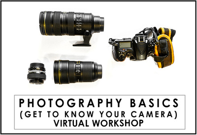 Photography Basics (Get to Know Your Camera) - online workshop with Mieke Boynton