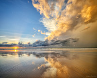 Sunset reflections in Broome Western Australia by photographer Mieke Boynton
